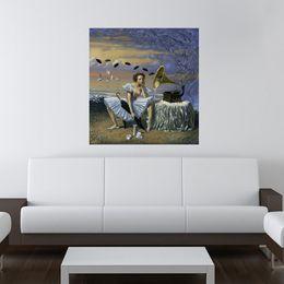 Michael Cheval, melodia de chuva, obras de arte impressão na lona moderna de alta qualidade pintura de parede para a decoração da casa sem moldura de Fornecedores de pintura nu do painel da menina