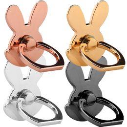 2019 telefonhalter kaninchen Kaninchen-Metall 360 Grad-Universalfinger-Ringhalter stander Handy-Montierungshalter für iphone samsung androides Telefon gps mp3 günstig telefonhalter kaninchen