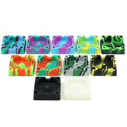 posacenere in silicone quadrato colorato Colorfull posacenere resistenti al calore eco-friendly glow nel posacenere in silicone scuro per una facile pulizia dei portacenere da