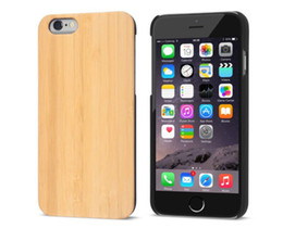 Wholesale Iphone Back Covers Unique - Newest Unique Universal Wood Phone Case For iphone 6 6s 7 8 Plus Professional Wooden Bamboo Mobile Phone Cover Wood PC Back Case Shockproof