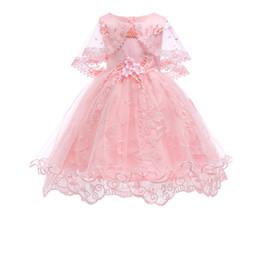 Nuovi vestiti per bambini, nuovi bambini 2018 vestito di moda, abito in pizzo Princess Baby in cotone, bambina di tutti i anni, abito di garza di pizzo. da