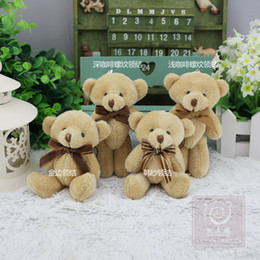 Wholesale wedding soft toys bears - 12cm Kawaii Soft Bear Toys For Bouquets Wedding,Fluffy Plush Mini Bear toys,Hanging Toy Stuffed Plush Toys Dolls,juguetes