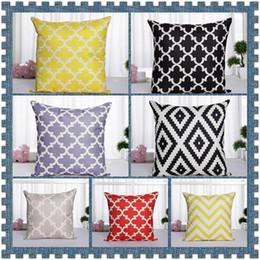 Wholesale Wholesale Geometric Pillow Cushion - 7 Styles Vintage Grey Geometric Pattern Decorative Pillow Cover Cushion Cover Pillowcase Decor Home Pillow Cases CCA8910 20pcs