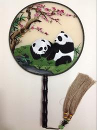 cadeaux brodés à la main Promotion Poignée ronde vintage chinois ventilateurs décoratifs femmes cadeau ventilateur haut de gamme Handcrafted double brodé soie naturelle main ventilateur de mariage