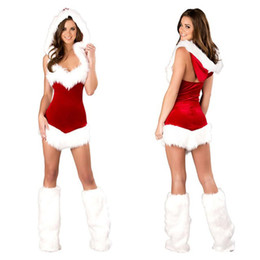 Женщины сексуальный Рождественский фестиваль косплей костюмы женский чистый красный Вельвет Хэллоуин равномерное ролевые игры для взрослых Санта-Клаус от