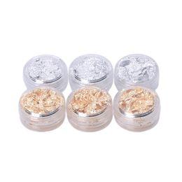 Canada 1 boîte Nail Art Design Décoration Paillette Feuille De Flocon Acrylique UV Gel Papier 3D Conseils Or / Argent Couleur supplier acrylic nails gold tips Offre