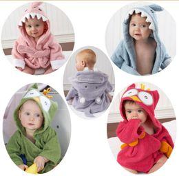 Wholesale winter blanket for newborn baby - Baby Bath Towels Children Bath Robe Newborn Blankets Bathing Towel Hooded Baby's Bathrobe For 0~5 Y