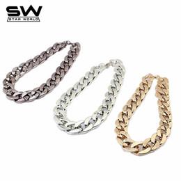 Gold kurzketten-designs frauen online-STARWORLD 3 Farben Kurze Bauweise Große Weberei mehrere Anhänger Halskette Kette Halskette Für Frauen Männer