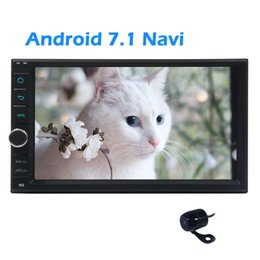 Wholesale German Parks - Android 7.1 Nougat System in Dash Eincar 7inch Double din Car Stereo GPS Navigation Autoradio Bluetooth Dual Cam-in Rear Camera for parking