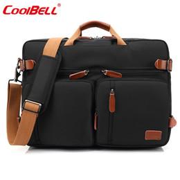Wholesale macbook messenger - CoolBELL 17.3 Inch Convertible Backpack Messenger Bag Handbag Laptop Briefcase Multifunctional Travel Rucksack Fits Dell Lenovo