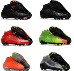 edb3df617 Mens high ankle FG soccer cleats Hypervenom Phantom III DF soccer shoes  neymar IC boots cleats TF football shoes