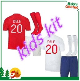 Wholesale United Kids - 2018 United Kingdom World Cup soccer Jersey england kids kit ROONEY KANE STURRIDGE STERLING HENDERSON VARDY 2019 home away football shirt