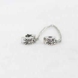 New Silver Plated Safety Chain Charm Bead Fiore Snowflake Stopper Charms Fit bracciali braccialetti gioielli fai da te donne da