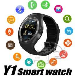 Wholesale Sleep Cell - Smart Watch Y1 Watches For Android Smartwatch Support Message Cell Records With SIM Card Slot