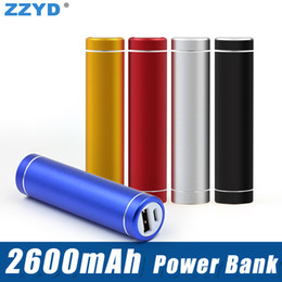 Wholesale External Battery Supply - ZZYD 2600 mAh Power Bank Portable Backup External Battery USB Mobile charger Mobile Power Supply For Samsung S8 iPX Tablet