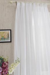 Rideaux modernes pour la cuisine en Ligne-Eco-Friendly Europe, Fenêtre, rideaux solides Fils Blanc Rideaux Tulle pour Cuisine Salon Fenêtre moderne Traitements Rideau Voile