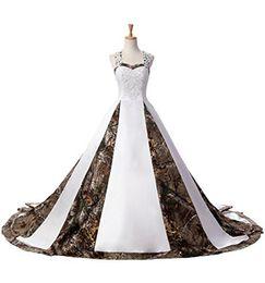 2019 coluna de bainha vestido de casamento baixa volta 2017 Mais Novo Camuflagem Vestidos de Casamento Com Apliques vestido de Baile Longo Camo Vestido de Festa de Casamento Vestidos de Noiva Em Stcok WD1013