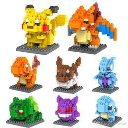 Wholesale hero 3d - LOZ DIAMOND BLOCKS Toy Super Heroes Pikachu In 7.5 CM Box Parent-child Games Educational DIY Assemblage Bricks Toys 3D Puzzle Toy