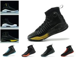 Wholesale fun fall - 2018 New Arrival Stephen 4 More Range Dubs Fun Basketball Shoes for Mens High quality Sports Training Sneakers Size 40-46