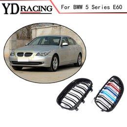 5 serie E60 ABS Mesh Gloss Griglia anteriore automatica per griglia BMW E60 E61 520d 520i 523li 525li 530l berlina 4 porte 2005-2008 da in acciaio 1997 fornitori