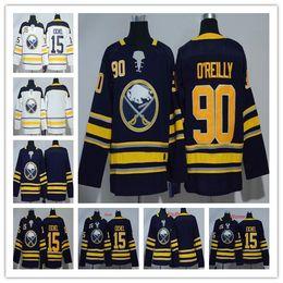 2018 AD Buffalo Sabres ice hockey jersey 15 Jack Eichel 90 Ryan O Reilly  blue white blank Buffalo Sabres Hockey stitched kids Jerseys bdadd486a