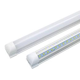 Wholesale v shape - V-Shaped 3ft 4ft 5ft 6ft 8ft Cooler Door Led Tubes T8 Integrated Led Tubes Double Sides SMD 2835 Led Fluorescent Light AC 85-265V CE SAA UL