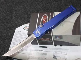Wholesale Knife Elmax - Microtech HALO V ELMAX Blade Super elastic Aluminum alloy Kinfe survival gear outdoor Tactical knife knifes edc