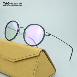 occhiali da vista in titanio per uomo Sconti 2018 Retro occhiali da vista da uomo TAG titanio Puro Occhiali fatti a mano montature da uomo occhiali da vista per miopia occhiali senza montatura
