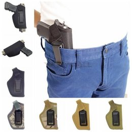 Wholesale inside pants - Tactical Holster IWB Inside the Pants Concealed Carry Holster Clip-On for Medium Compact And Subcompact Pistols