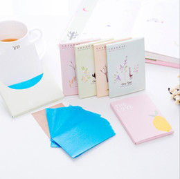 Wholesale tissue wholesalers - 50pcs Tissue Papers Pro Powerful Makeup Cleaning Oil Absorbing Face Paper Absorb Blotting Facial Cleaner Face Tools