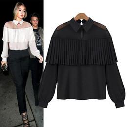 66b0641e681 Fashion female elegant white blouses Chiffon peter pan collar casual shirt  Ladies tops school blouse Women Plus Size