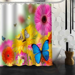 disegni su misura Sconti Farfalla personalizzata Nuovo design unico Casa creativa Bagno Doccia Tenda bella Per la tua famiglia Tende per il bagno