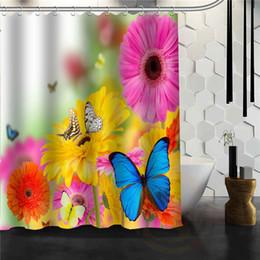 индивидуальные дизайнерские шторы Скидка Custom Butterfly New Unique Design Creative Home Bathroom Shower Curtain beautiful For your family Curtains for bath