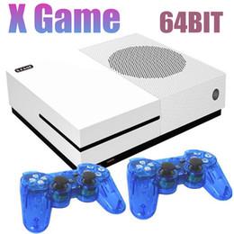 Tarjeta de video hdmi online-2018 Hot Family Video Game Player 4GB 64Bit Puede almacenar 600 juegos Dual Gamepads Xgame Soporte TF Tarjeta HDMI AV-Out para FC