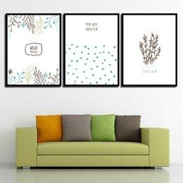 2019 abstrakte gemälde wellen Nordic HD Print Poster Wand Abstrakt Schöne Pflanze Und Welle Punkt Leinwand Kunst Bild Gemälde Vintage Wohnzimmer Wohnkultur günstig abstrakte gemälde wellen