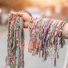 Gros vrac lots Colorful Braid Friendship Cords Strand Bracelet Tressé De Corde