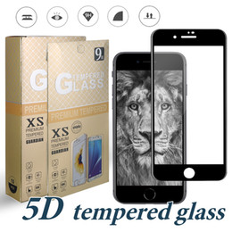 Wholesale film bubbles - For iPhone X Full Curved Glass 9H Hardness Screen Protector Film For iPhone 7 8 Plus Tempered Glass Anti-bubble Full Curved with Retail Box