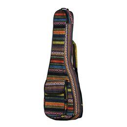 "Bandolera acolchada online-23 ""Ukulele Bag National Style Ukelele Mochila Case 6mm Cotton Padding Correa de hombro ajustable para Ukeleles de concierto"