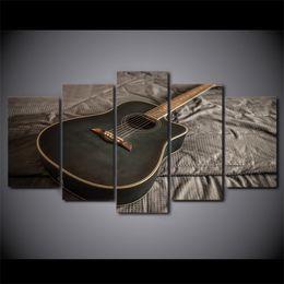 moderne klassische gitarre Rabatt HD Gedruckt 5 Stück Leinwand Kunst Klassische Gitarre Malerei Modulare Wandbilder für Wohnzimmer Moderne Kostenloser Versand CU-2491B