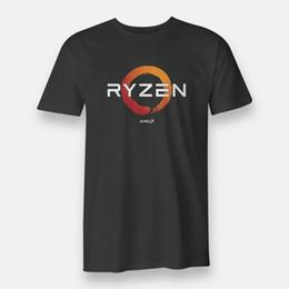 Wholesale gaming cpu - AMD Gaming RYZEN CPU Men's Tees S to 3XL Black T-shirt