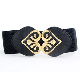 Yeni Tasarım Kadınlar Geniş Elastik Kuşak Kemer Bayanlar Çift Kalp şeklinde Rhinestone Toka Bel Kemerleri Moda Kuşak Kemer cheap belt rhinestones designs nereden kemer yapay elmas tasarımları tedarikçiler