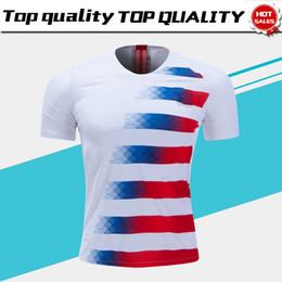 Wholesale United Soccer Shirt - 2018 America Home Soccer Jersey 2018 United States home Soccer Shirt USA men adult Football Uniform Sales
