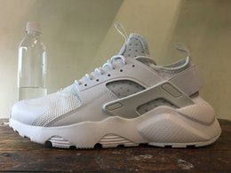 Wholesale Breathe Design - 2018 New Design Huarache 4 All Red Mesh Huraches Sneakers Ultra Breathe Men And Women Huaraches Running Shoes Size 36-45