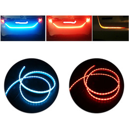 "Wholesale Led Trunk - 47"" LED Strip Trunk Tail Brake Turn Signal Light Flow Type Ice Blue Red Yellow White"