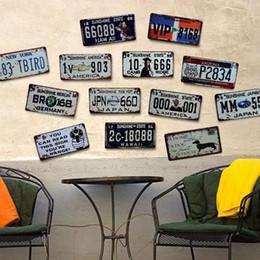 2019 licence d'antiquité 2018 Chaude Rétro Plaque D'immatriculation En Métal Mur Signes Vintage Artisanat Rétro En Métal Peinture Affiche Bar Pub Mur Décoration Home Decor Art MWP promotion licence d'antiquité