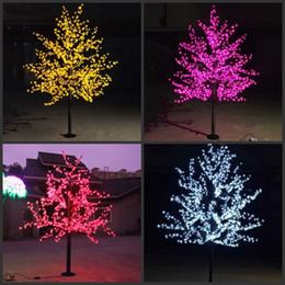 2019 tapete de boxwood falso LED Cherry Blossom Árvore Luz 480 pcs Lâmpadas LED 1.5 m de Altura 110/220 VAC Sete Cores para a Opção À Prova de Chuva Uso Ao Ar Livre Transporte da gota