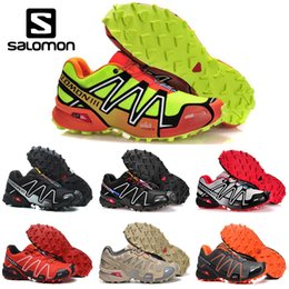 2019 zapatos impermeables Barato Salomon Speedcross 3 CS mens Running Shoes negro blanco hombres Lightweight Sneakers Zapatos impermeable Athletic sports Tamaño del zapato 40-46 zapatos impermeables baratos