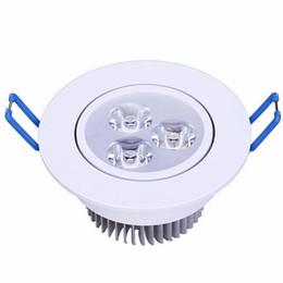 Argentina Ventas calientes AC 110V 220-240V Regulable Led 9W Downlights Empotrable Lámpara 60/120 Ángulo Alta calidad 3X3W Enfriar / calentar Led de techo en color blanco Suministro