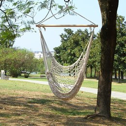 Wholesale children outdoor swing - Outdoors Rocking Chair Swing For Children Adult Foldable Swings Convenient For Carry Cotton Rope Reticulate Hanging Chair 53ot X
