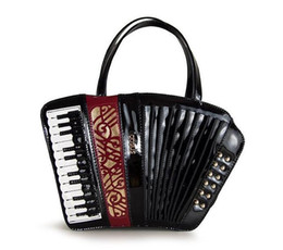 Wholesale Accordion Bag - Factory outlet brand handbag fashion trend fashion ladies handbag carved accordion musical color delicate Handmade woman single shoulder bag